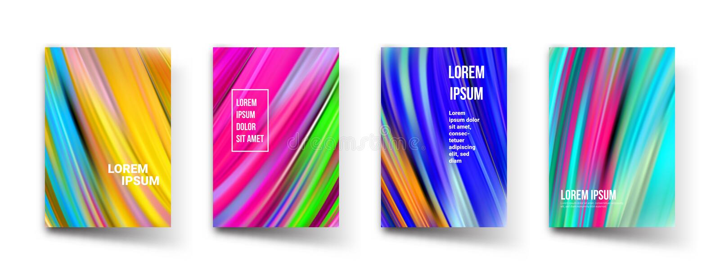 Modelli astratti del fondo di pendenza di colore del modello Progettazione grafica geometrica dell'estratto moderno di vettore, l royalty illustrazione gratis