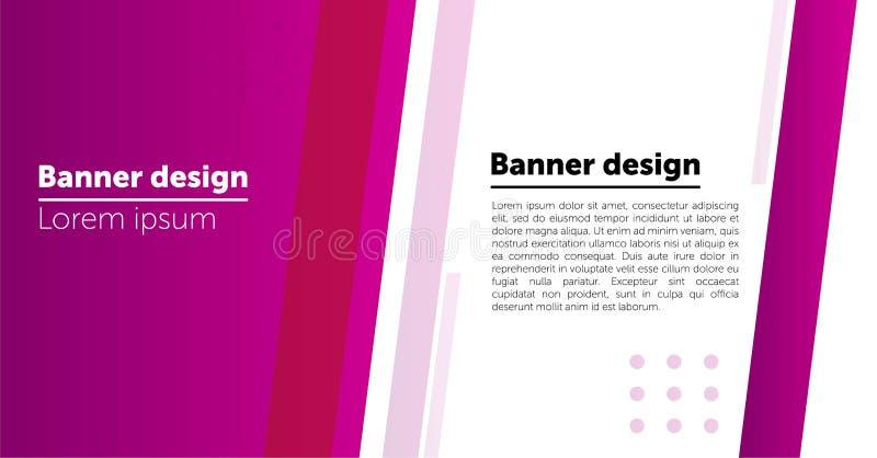 Modelli astratti del fondo o dell'intestazione di progettazione dell'insegna di web illustrazione di stock
