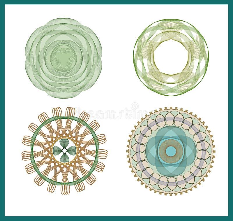 Modelli astratti floreali decorativi illustrazione vettoriale