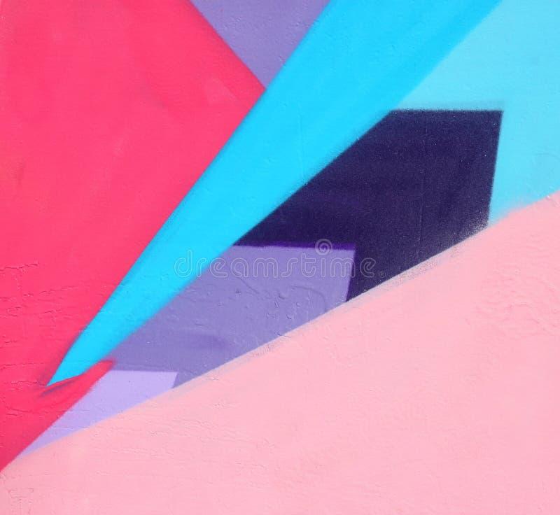 modelli audaci e saturati dipinti sopra la parete immagine stock