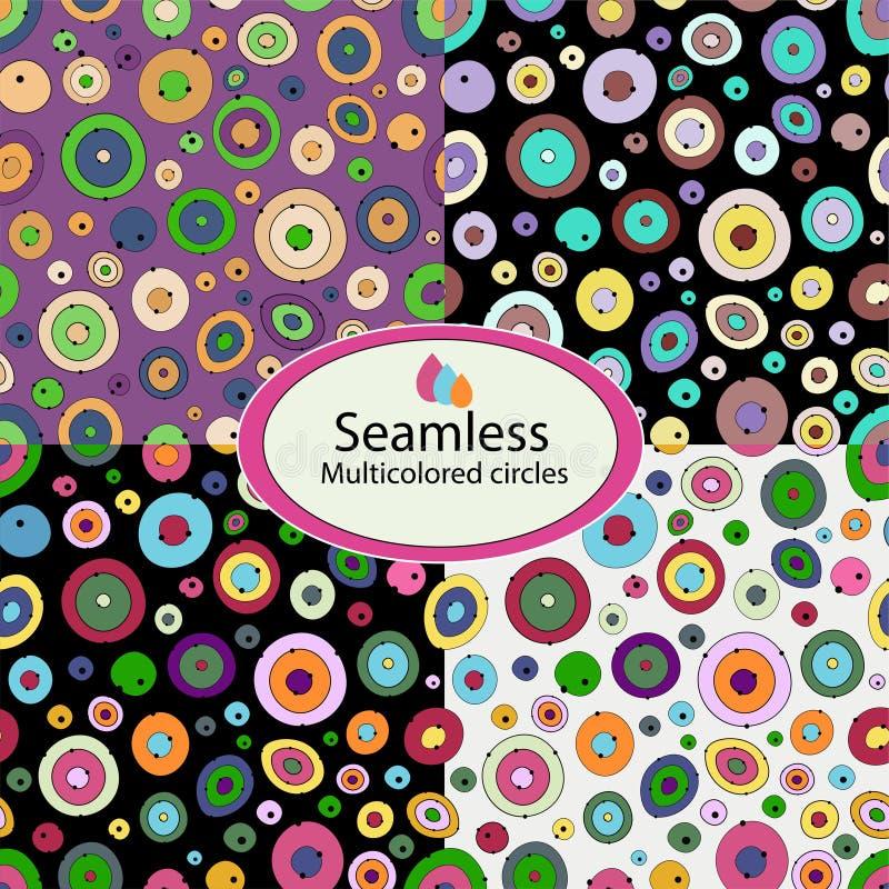 Modelli 07 cerchi multicolori illustrazione vettoriale