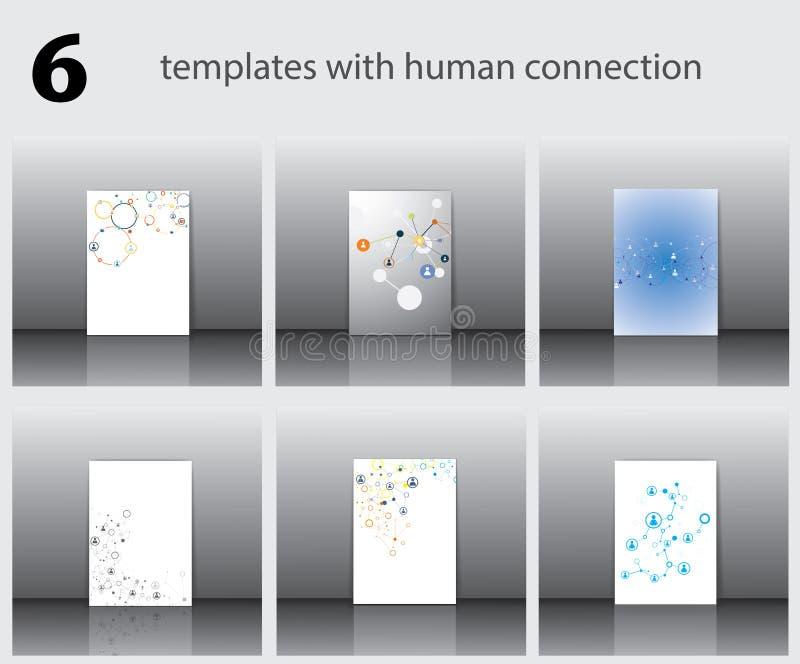 Modelli con collegamento umano illustrazione vettoriale