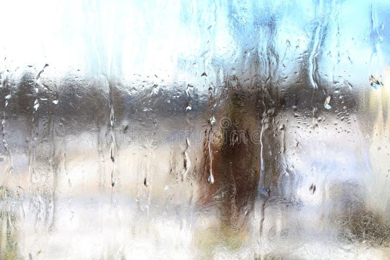 Modelli da un freddo su vetro fotografia stock libera da diritti