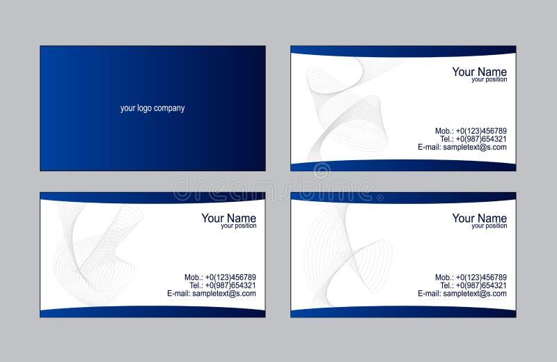 Modelli dei biglietti da visita illustrazione di stock