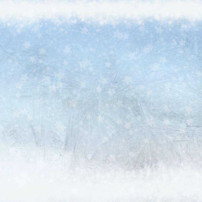 Modelli del gelo sulla finestra immagini stock