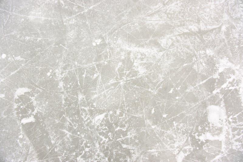 Modelli del ghiaccio sulla pista di pattinaggio immagini stock