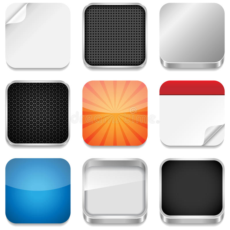Modelli dell'icona di App illustrazione vettoriale