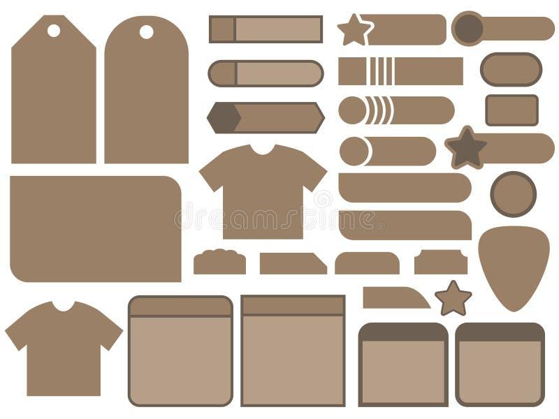 Modelli della bandiera illustrazione vettoriale