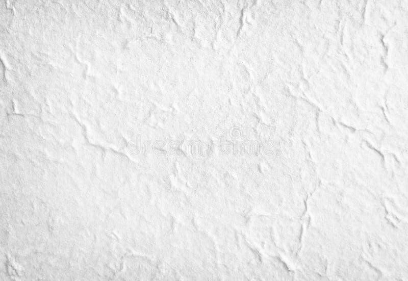 Modelli della vista superiore astratta in bianco di struttura della carta del gelso grigio o bianco per fondo immagine stock