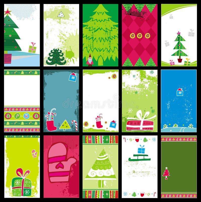 Modelli delle cartoline di Natale illustrazione vettoriale