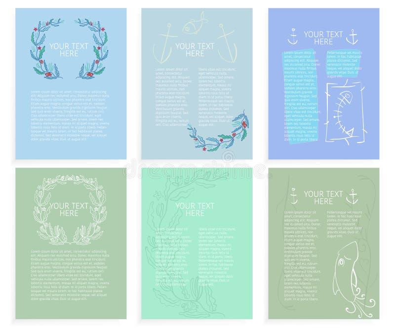 Download Modelli Delle Disposizioni Marino Di Tema Astratte Illustrazione Vettoriale - Illustrazione di blank, grafici: 56875884