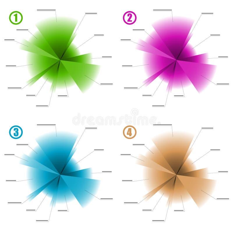 Modelli dello schema di colore di Infographic illustrazione di stock