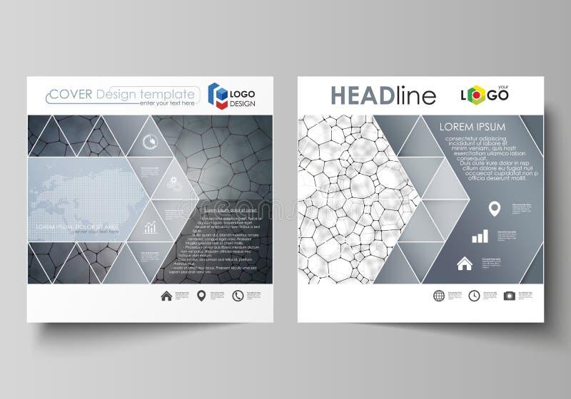 Modelli di affari per l'opuscolo quadrato di progettazione, aletta di filatoio Copertura dell'opuscolo, disposizione di vettore M illustrazione vettoriale
