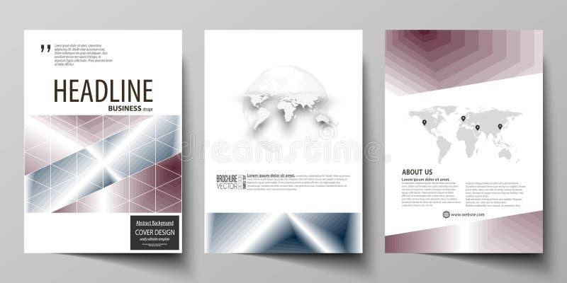 Modelli di affari per l'opuscolo, rivista, aletta di filatoio, rapporto annuale Modello di progettazione della copertura illustrazione vettoriale
