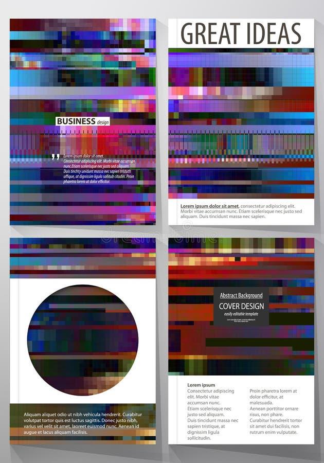 Modelli di affari per l'opuscolo, rivista, aletta di filatoio, rapporto annuale Riguardi il modello di progettazione, disposizion royalty illustrazione gratis