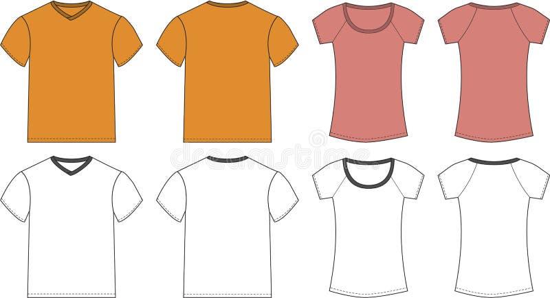 Modelli di disegno della maglietta illustrazione vettoriale