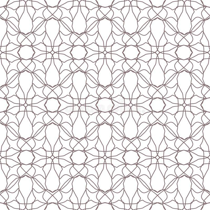 Modelli di fiori astratti senza cuciture Ornamento floreale geometrico illustrazione di stock
