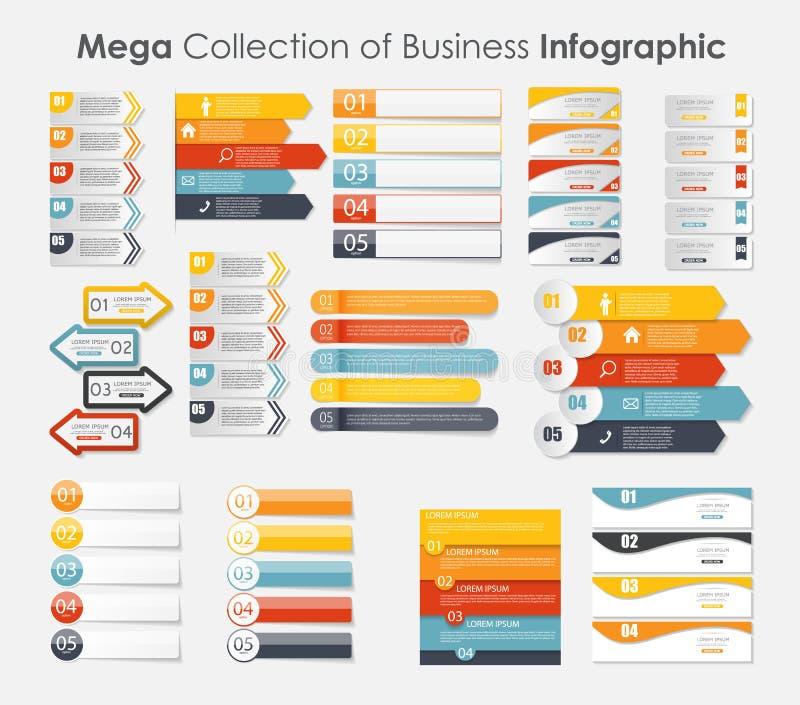 Modelli di Infographic per il vettore di affari royalty illustrazione gratis
