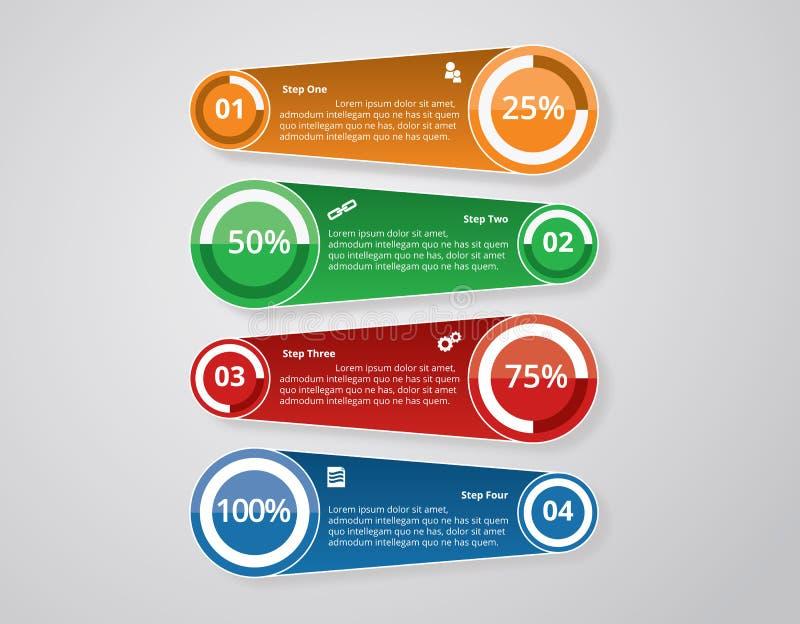 Modelli di Infographic per il vettore di affari immagini stock libere da diritti