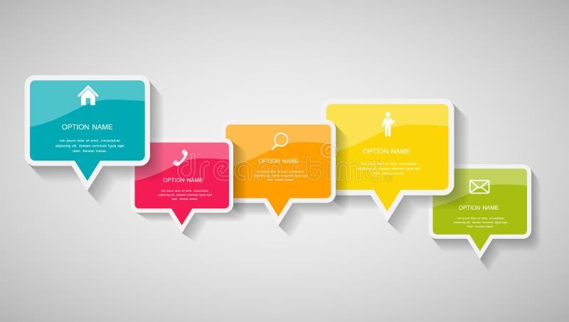 Modelli di Infographic per l'illustrazione di vettore di affari. illustrazione vettoriale