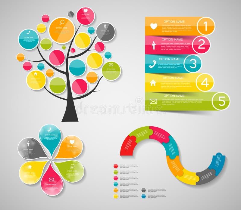 Modelli di Infographic per l'illustrazione di vettore di affari illustrazione vettoriale