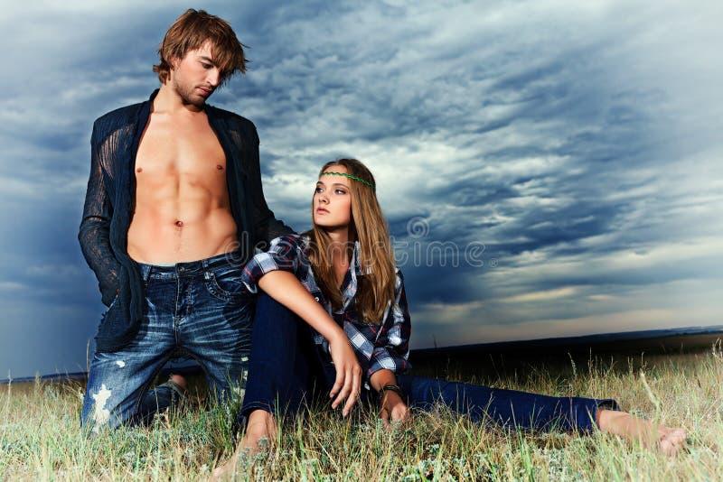 Modelli di moda immagini stock