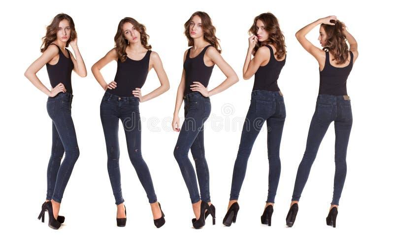 Modelli di moda del collage fotografia stock