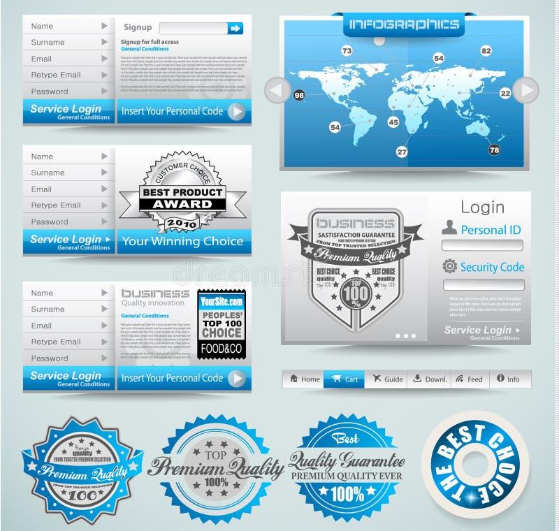 Modelli di premio e materia di Web illustrazione vettoriale