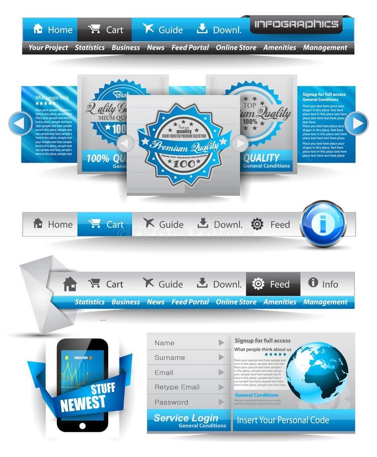 Modelli di premio e materia di Web illustrazione di stock