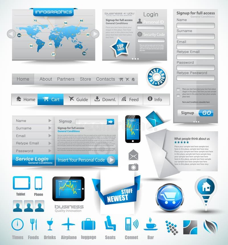 Modelli di premio e materie di Web illustrazione vettoriale