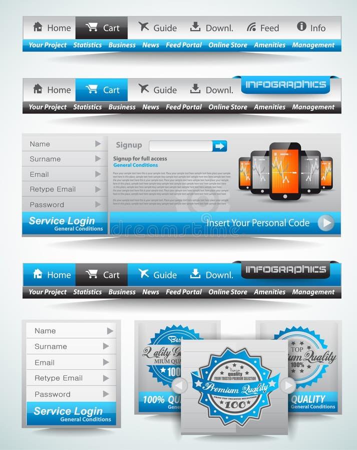 Modelli di premio e materie di Web royalty illustrazione gratis
