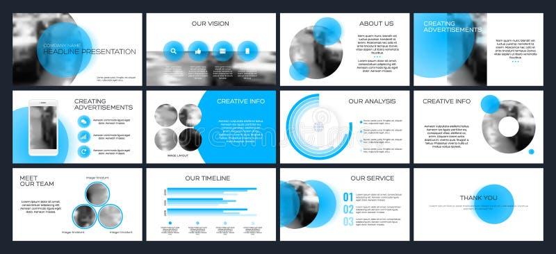 Modelli di presentazione di affari dagli elementi infographic illustrazione di stock