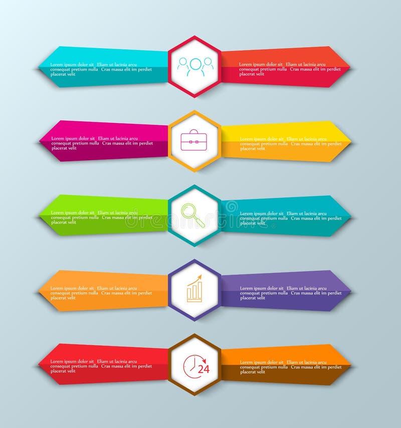 Modelli di progettazione dell'insegna per il vostro sito Web o infographic di carta Vettore royalty illustrazione gratis