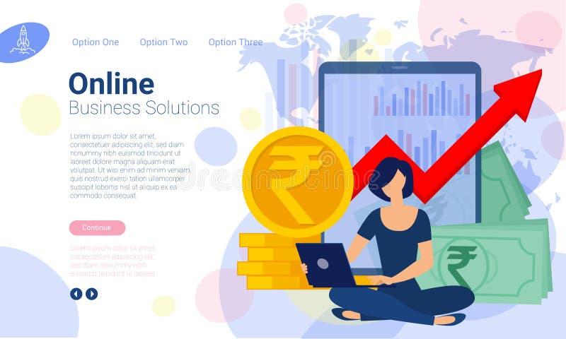 Modelli di progettazione della pagina Web illustrazione di stock