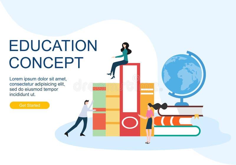 Modelli di progettazione della pagina Web per il concetto di istruzione Concetti moderni dell'illustrazione di vettore per svilup illustrazione vettoriale