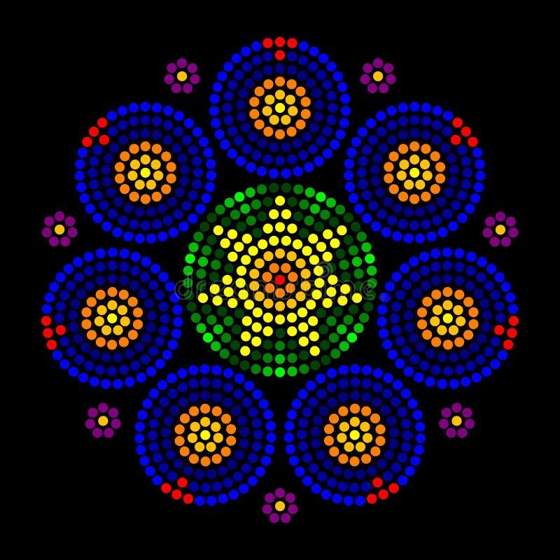 Modelli di punto radiali del leadlight della finestra della rosetta royalty illustrazione gratis