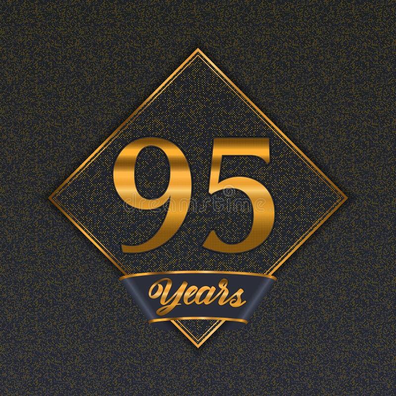 Modelli dorati di numero 95 illustrazione vettoriale