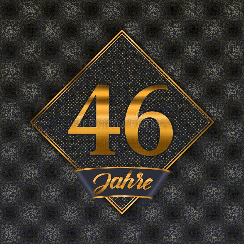 Modelli dorati tedeschi di numero 46 illustrazione vettoriale