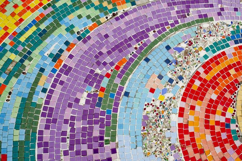 Modelli e colori della piastrella di ceramica immagine stock libera da diritti