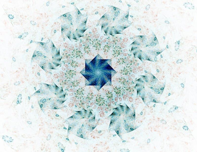 Modelli e forme astratti di frattale Materiale illustrativo di Digital per progettazione grafica creativa Icona simmetrica di fra illustrazione vettoriale