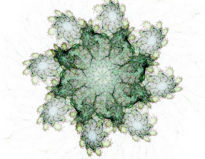 Modelli e forme astratti di frattale Struttura di frattale I colori in serie, pittura operata Il fondo consiste del frattale illustrazione di stock