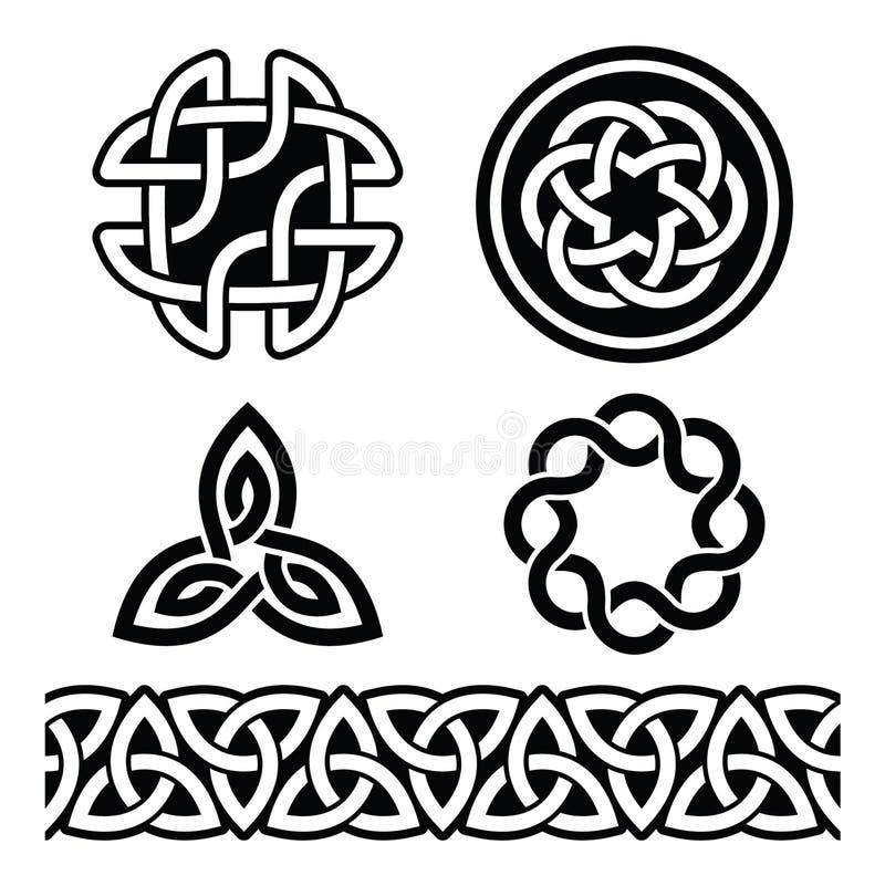 Modelli e nodi irlandesi celtici -, il giorno di St Patrick royalty illustrazione gratis