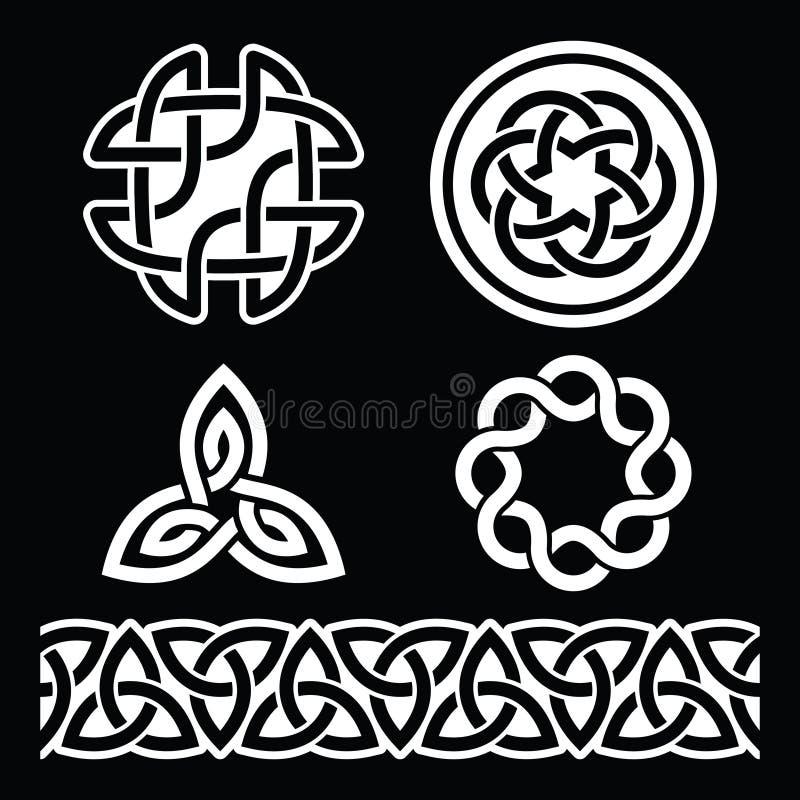 Modelli e nodi irlandesi celtici - vettore, il giorno di St Patrick illustrazione di stock