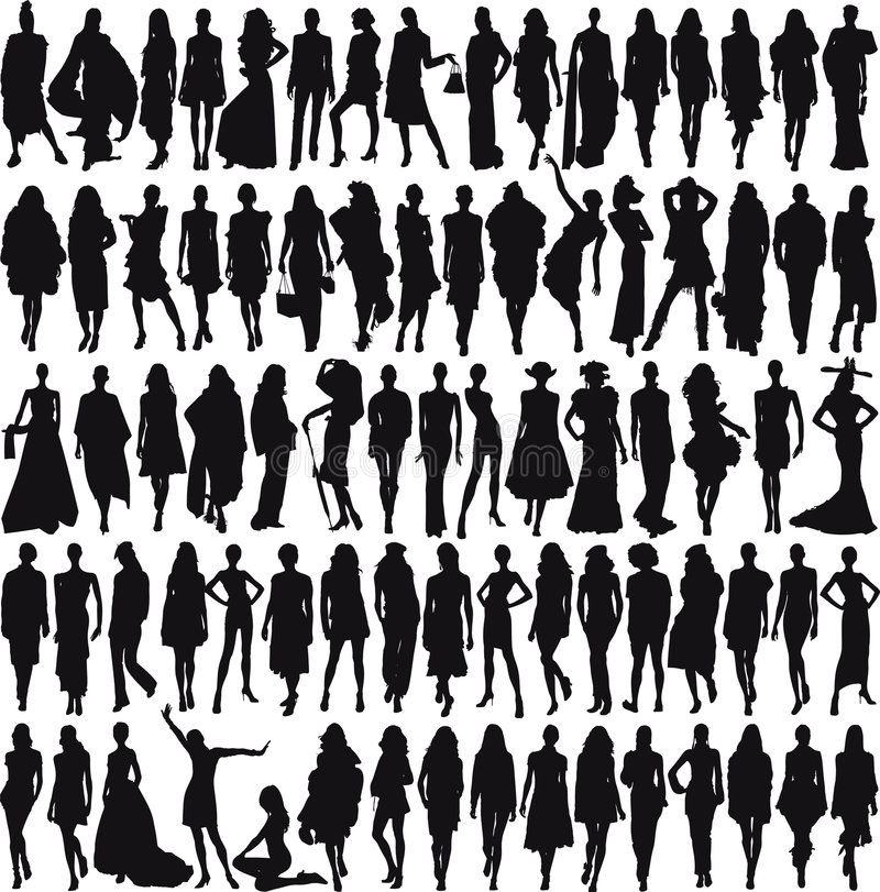 Modelli femminili royalty illustrazione gratis