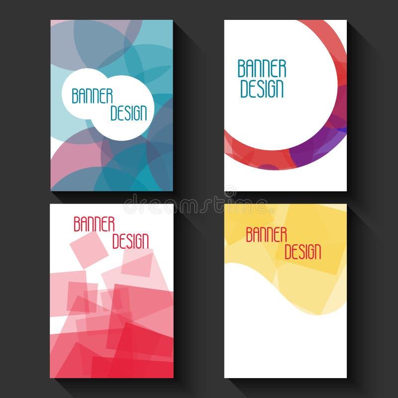 Modelli geometrici di affari per l'opuscolo, l'aletta di filatoio o il libretto Poli fondo basso multicolore astratto Stile trian illustrazione vettoriale