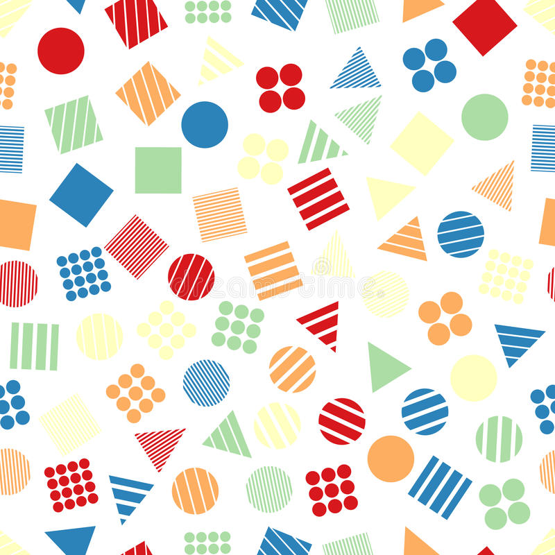 Modelli geometrici primitivi senza cuciture per il tessuto e le cartoline illustrazione vettoriale