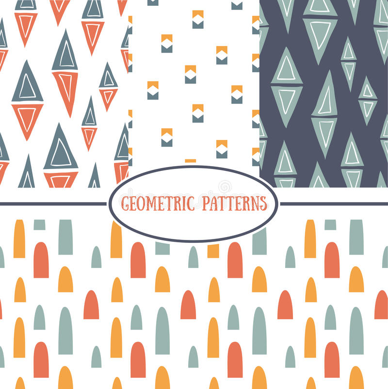 Modelli geometrici senza cuciture illustrazione di stock