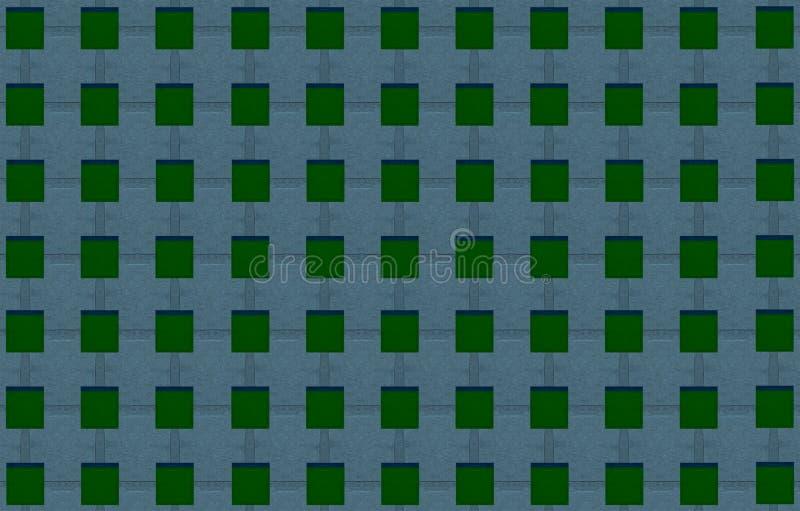 Modelli il quadrato verde su una tela geometrica scura del fondo marrone rossiccio scuro illustrazione di stock