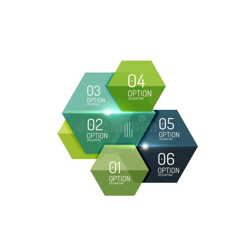 Modelli infographic di carta del pulsante di opzione di affari illustrazione di stock