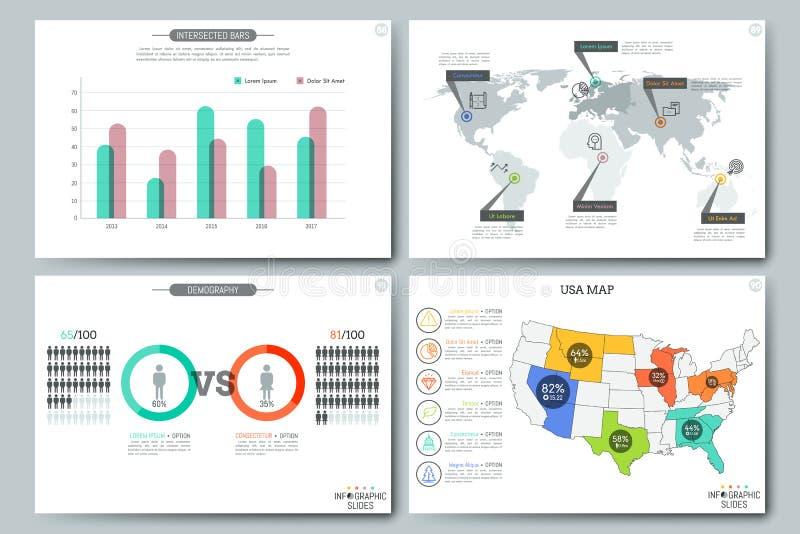 Modelli infographic semplici royalty illustrazione gratis